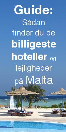 Guide til billigt hotel og lejlighed Malta
