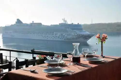 The British Hotel restaurant udsigt